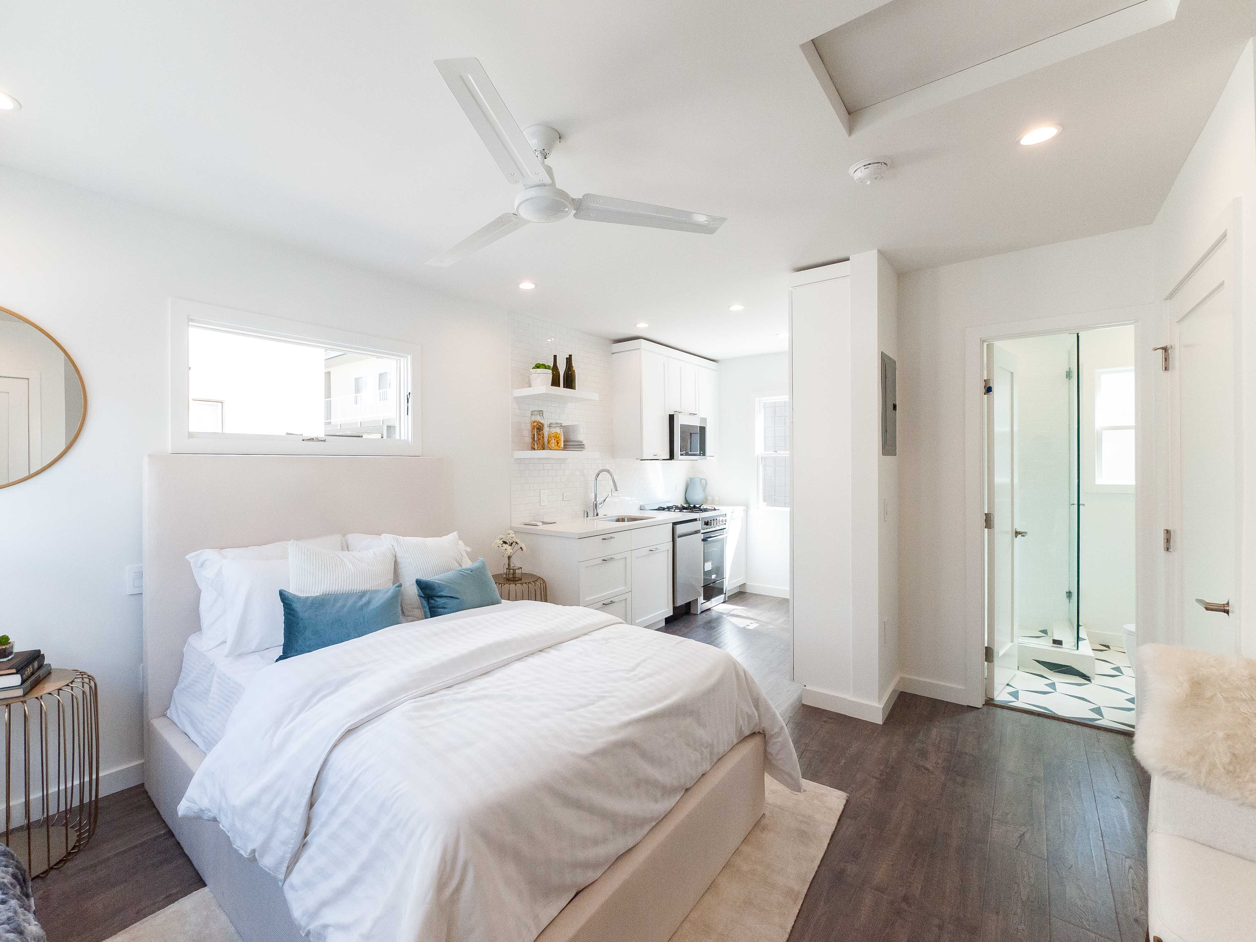 Completely Remodeled Beachy Bungalows In Belmont Shores | Sleek Studios | Across the street from Rosie's Dog Beach