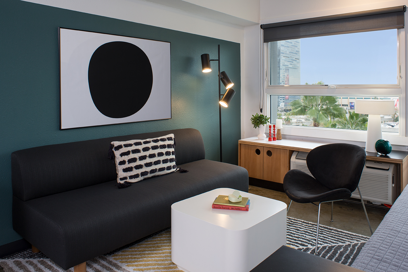 Sleek Micro-Loft Just Steps to the Live!  Amazing Views of DTLA and Even More Amazing Amenities