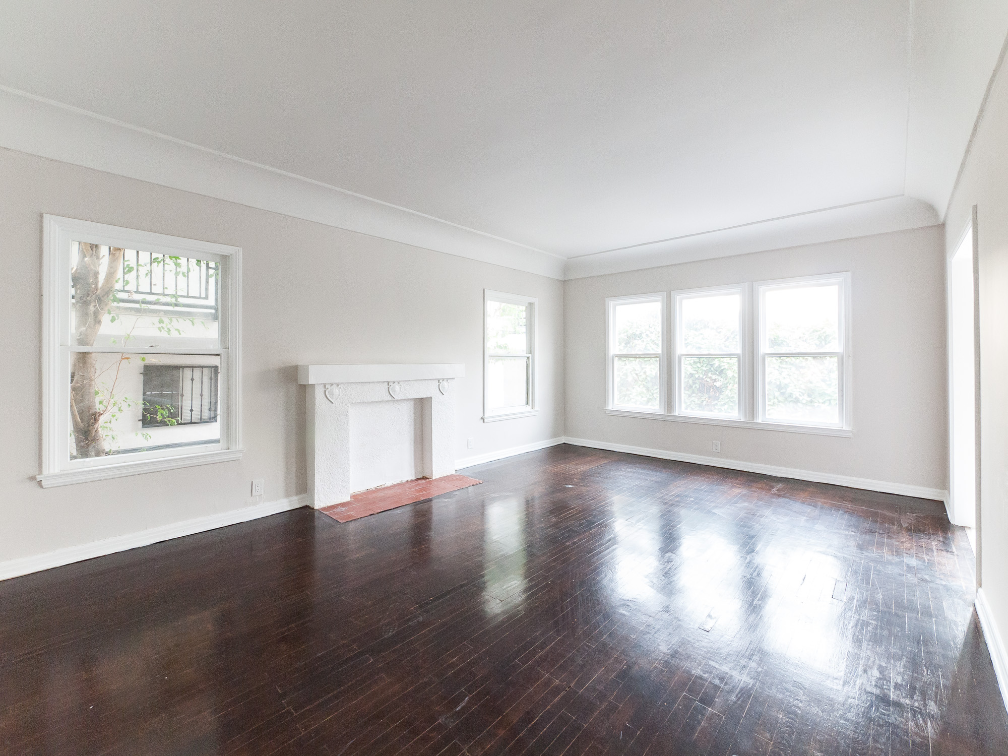 Just Too Gorgeous! Renovated - Huge, 1 Bed - Original Hardwoods - Fireplace-Corner Unit- Stainless Kit - Windows Everywhere!