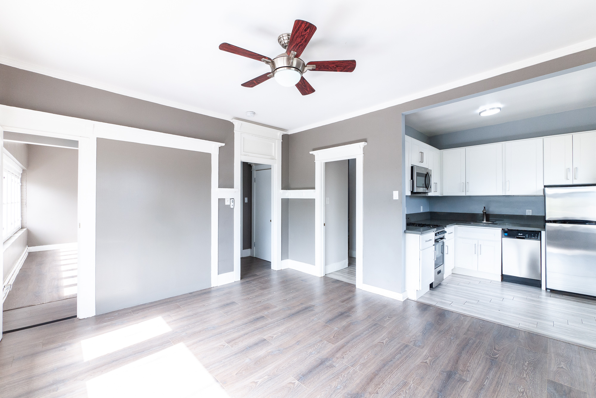 Lincoln Heights   Front Unit   Flooded in Natural Light with Wall of Windows   Views of DTLA Skyline