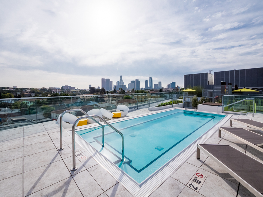 Modern Luxury | Two Bedroom Apartment | Rooftop Lounge with Spa | Blocks to Echo Park Lake | Pet Friendly | Central Air, All Appliances, In-unit W/D