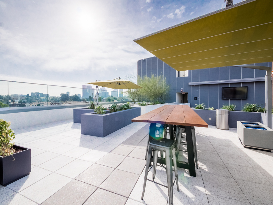 Modern Luxury   One Bedroom Apartment  Private Balcony   Rooftop Lounge with Spa   Blocks to Echo Park Lake   Pet Friendly