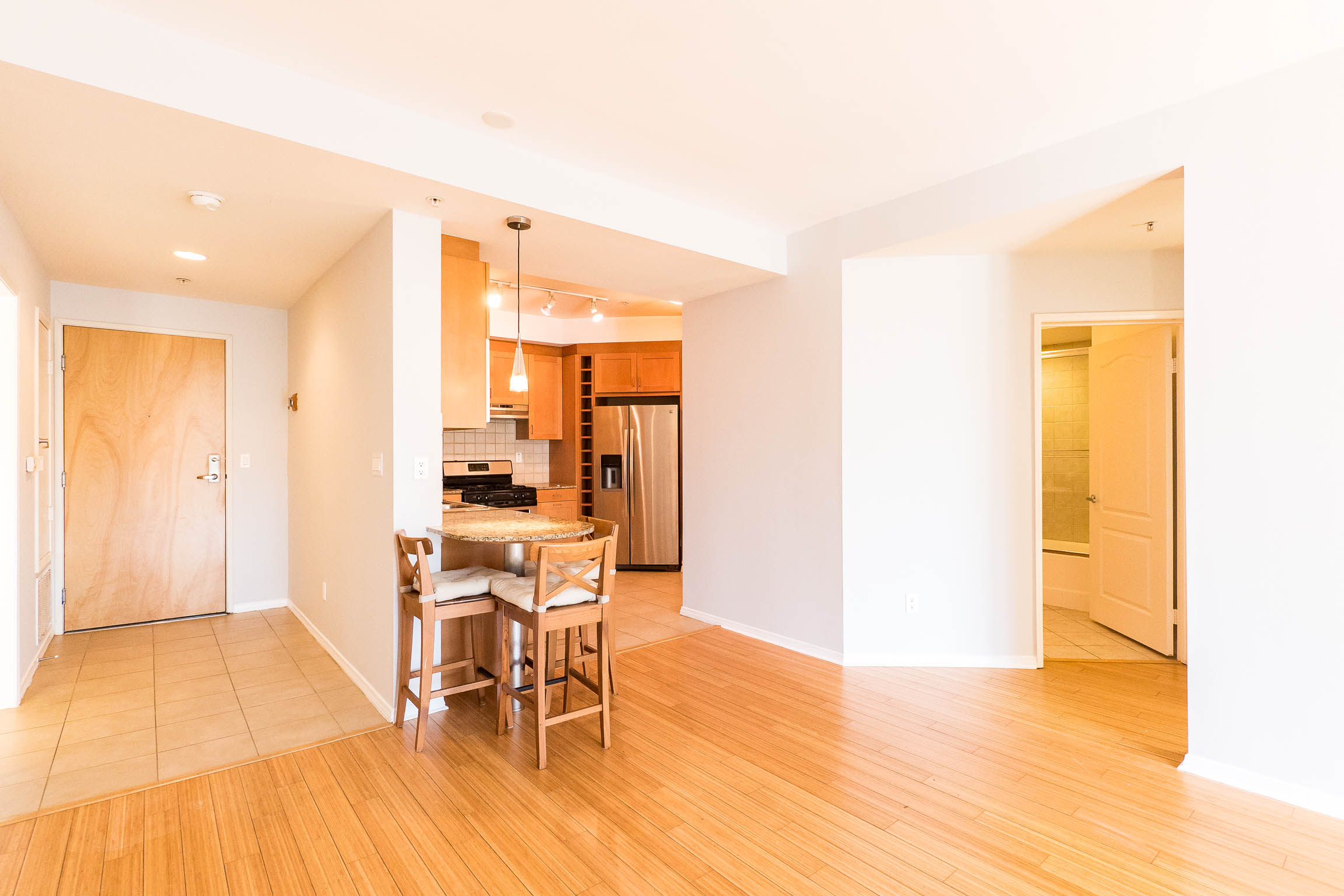 Large Sun-Splashed 2BD/2BA with Private Balcony in Luxury Condo Building
