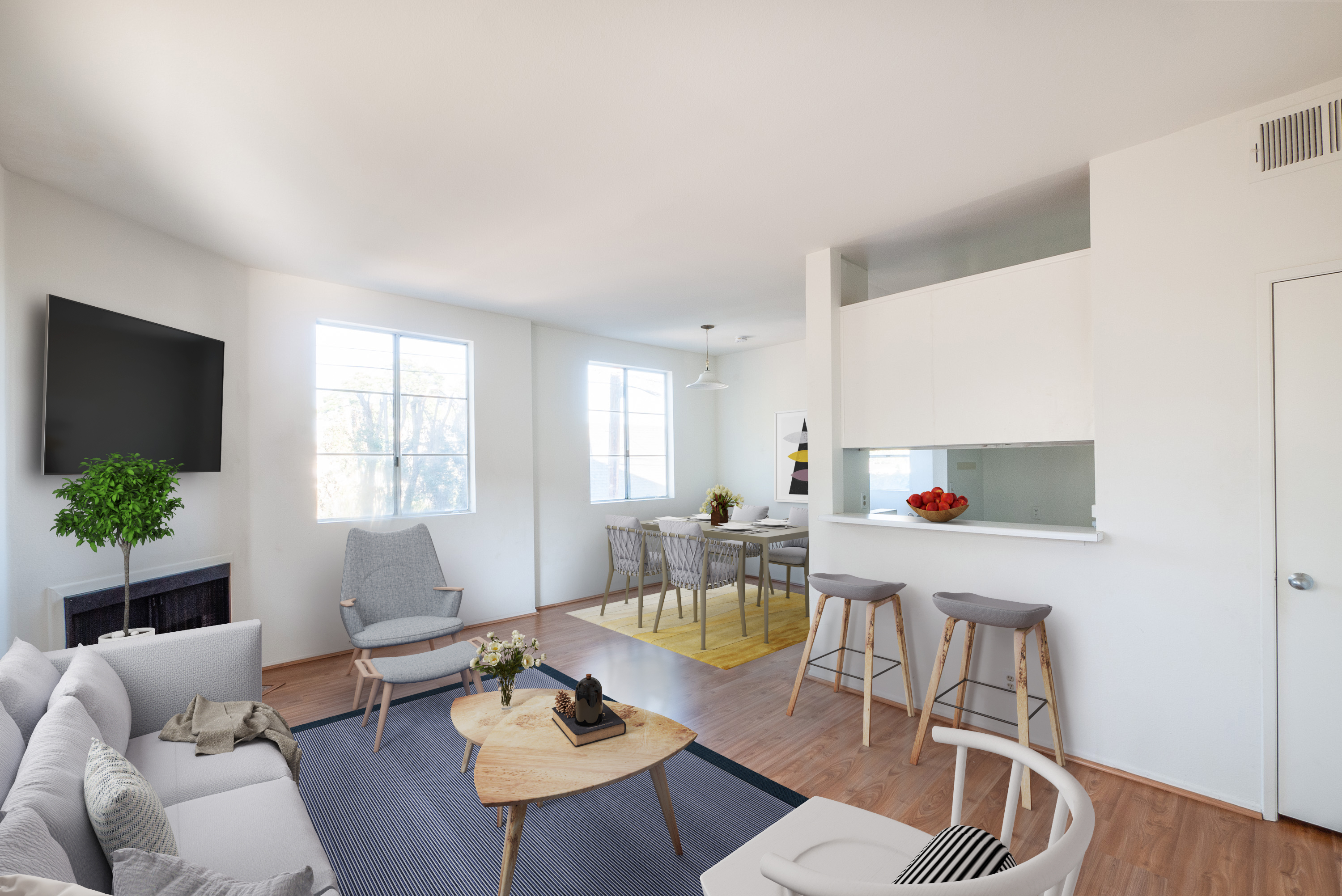 First Floor 1BD/1BA in West LA with Easy Freeway Access and Parking On Site!