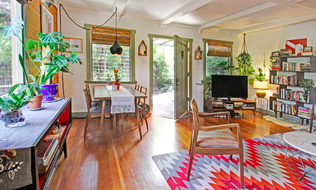 Think out of the box: buy 2 homes, live in one and rent the other.