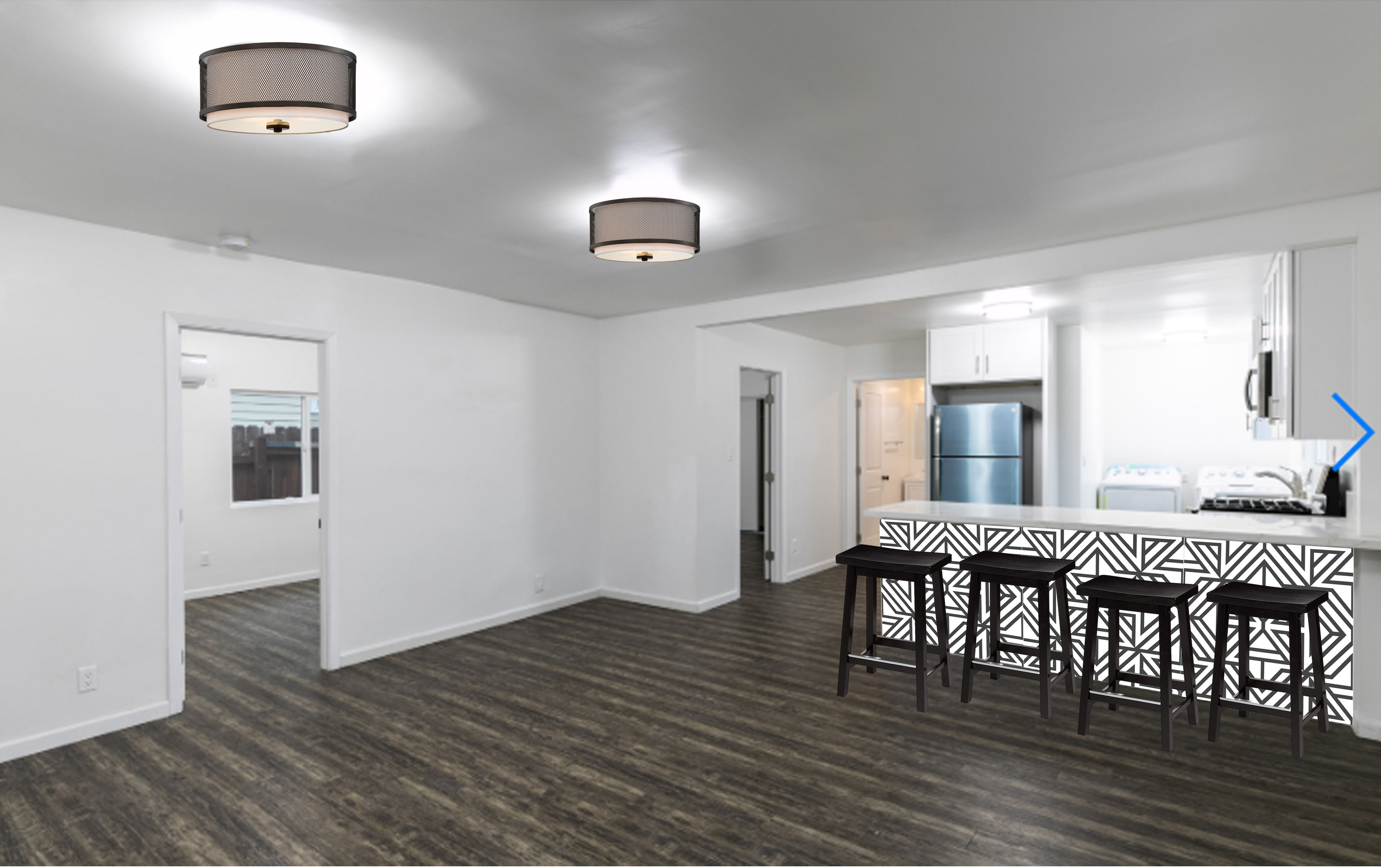 Newly Renovated 2 Bed/ 2 bath In Cypress Park   AC Included   W/D In Unit!   Parking Included + Private Patio