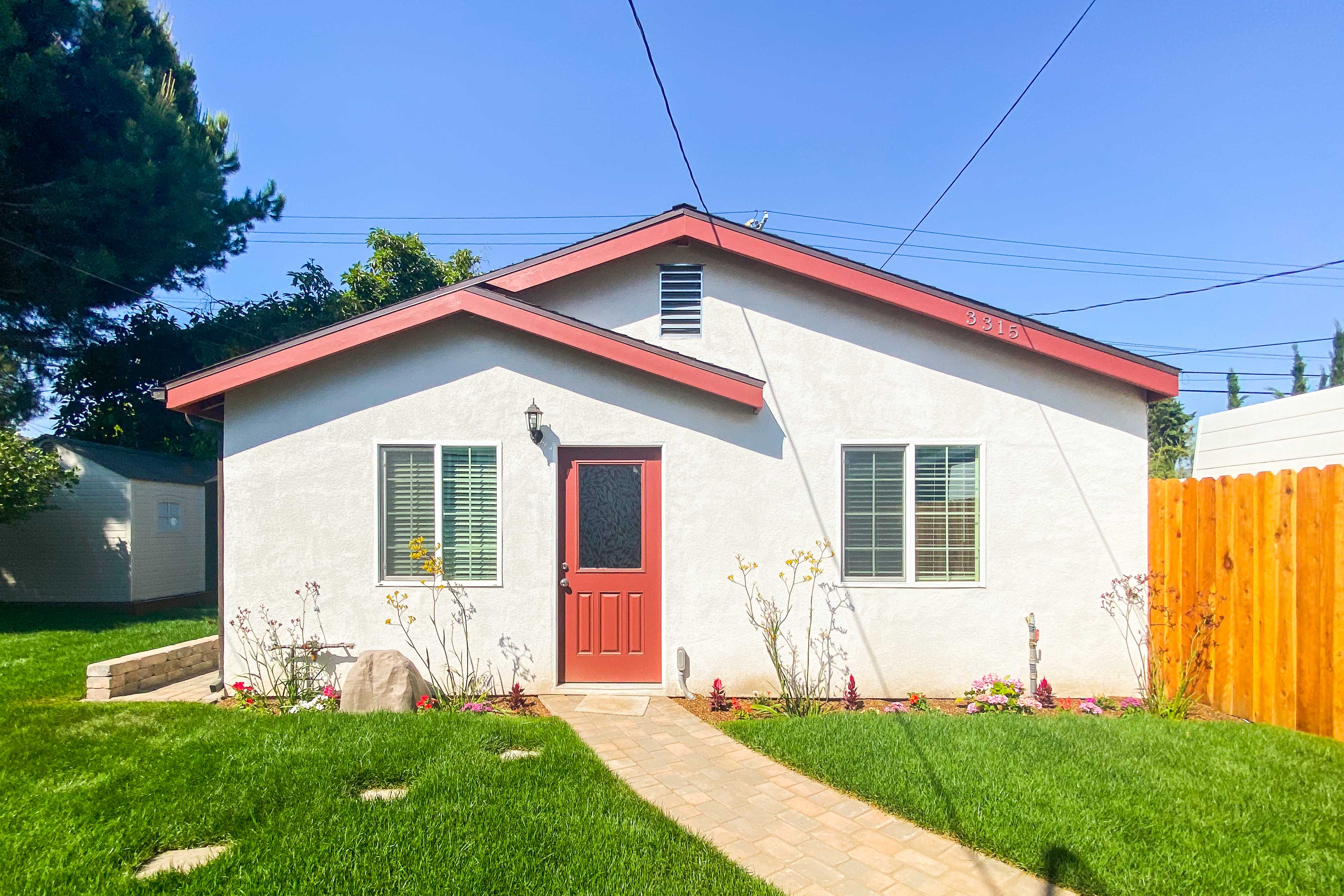 Brand New Build - 2 Bed/1 Bath   Prime Atwater Village Backhouse   Lush Yard Space W/ Fruit Trees!