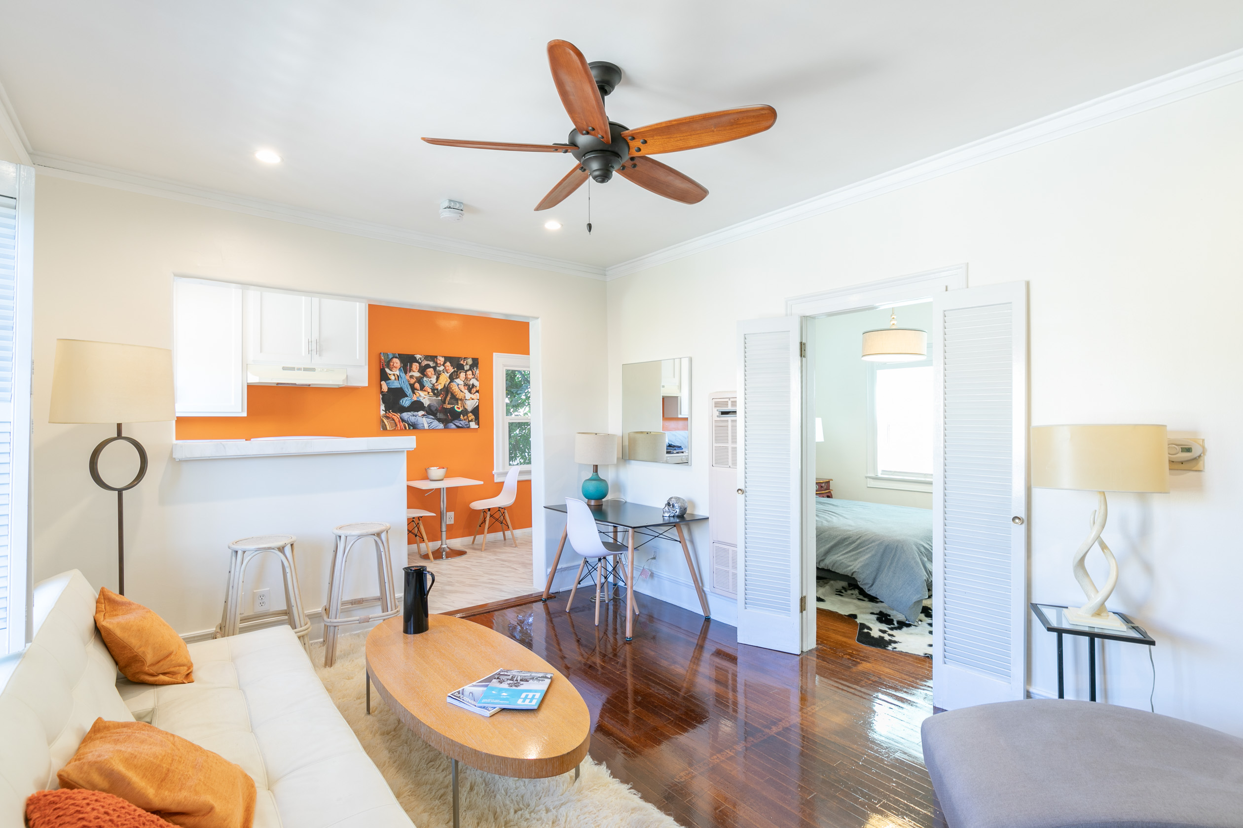 Brand New Renovated Furnished Fabulous 1 Bed | Garage Parking | Laundry in Unit | Central Los Feliz!