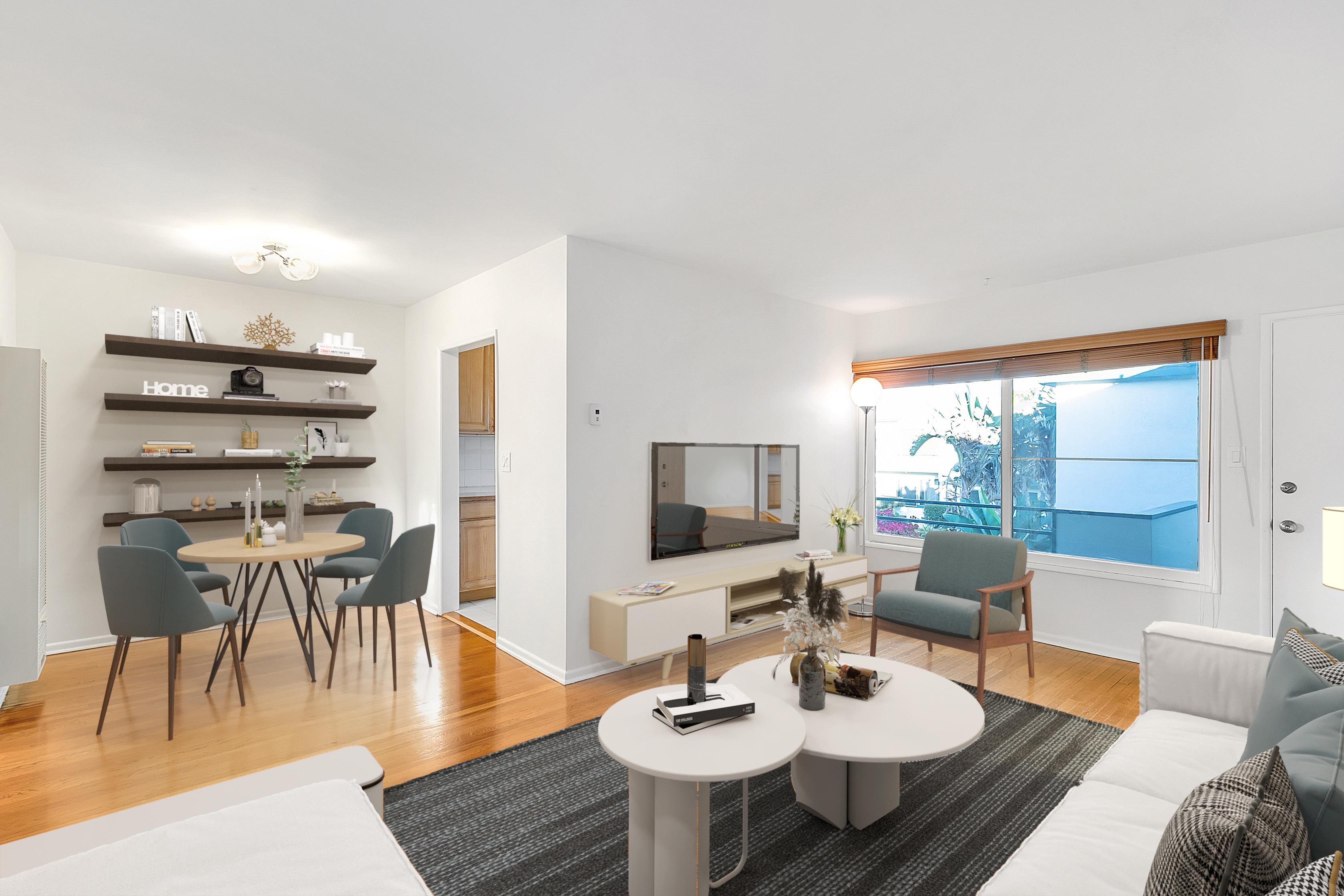 Clean & Pristine Upper 1BD Condo in Santa Monica with Parking & Communal Courtyard Space!