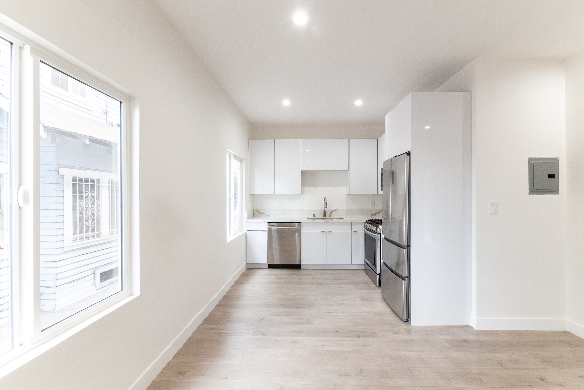 BE THE FIRST to move in!  Brand New Renovation - Sleek, White  Kitchen- Quartz Marble Counters- DW- AC - Move-In Special!